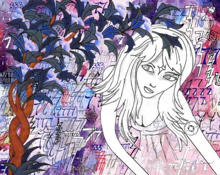 digital collage art, digital painting art, watercolor collage art, modern contemporary san francisco art, Meghan Oona Clifford