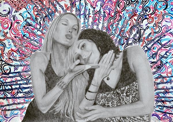 bohemian fashion, boho art, boho fashion art, bohemian look, phish girls, party art, rockstar art, sister art, sisterhood art, modern contemporary san francisco art