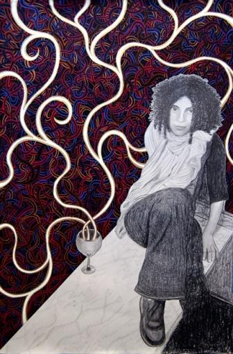 drinking art, alcohol art, wine art, wine painting, winery art, urban contemporary san francisco art, west coast art, meghan oona clifford artist