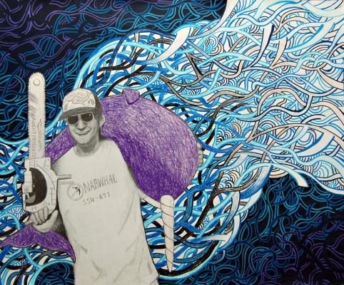 narwhal art, urban art, rockstar art, party art