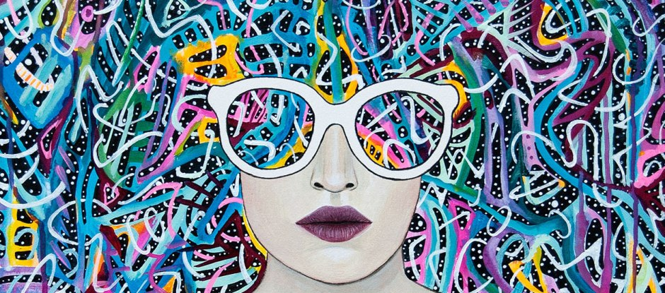 meghan oona clifford, party animal art, mystical transcendent trippy art, modern celtic knot art