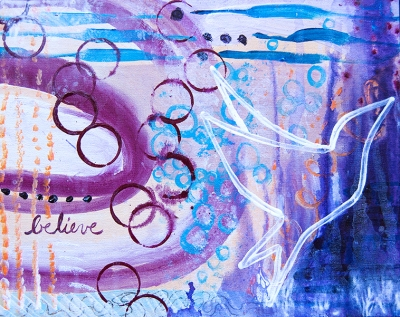 Believeabstract artwork for home decor by Meghan Oona Clifford sf ca