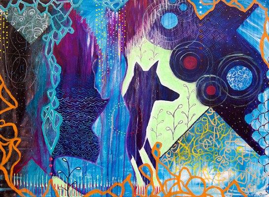 abstract spiritual modern art, meghan oona clifford art, contemporary san francisco artist