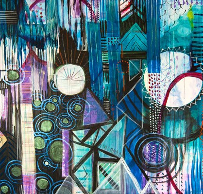 flora bowley, abstract urban modern art, new contemporary abstract art, meghan oona clifford