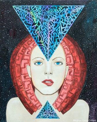 erik jones inspired art, alex grey inspired, android jones inspired, meghan oona clifford, fashion art, modern painting, visionary art