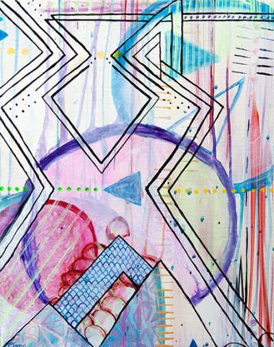 modern geometric abstract art, urban abstract geometric art, contemporary geometric painting