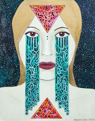 tara mcpherson, meghan oona clifford, goddess art, modern contemporary geometric art, geometric san francisco art