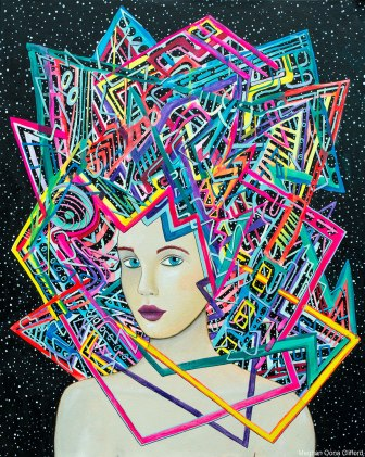 meghan oona clifford art, modern celtic knot painting, modern celtic knot fashion painting, celtic knot modern fashion art, erik jones inspired art, alex grey inspired art, android jones inspired art