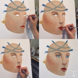 how to paint a face, oil painting, meghan oona clifford art, meghan oona art, visionary art, pop surrealism, new contemporary art