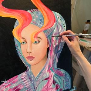 oil painting, meghan oona clifford, visionary art, popsurrealism, pop art