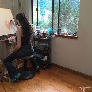 oil painting, meghan oona clifford, visionary art, pop surrealism, pop art