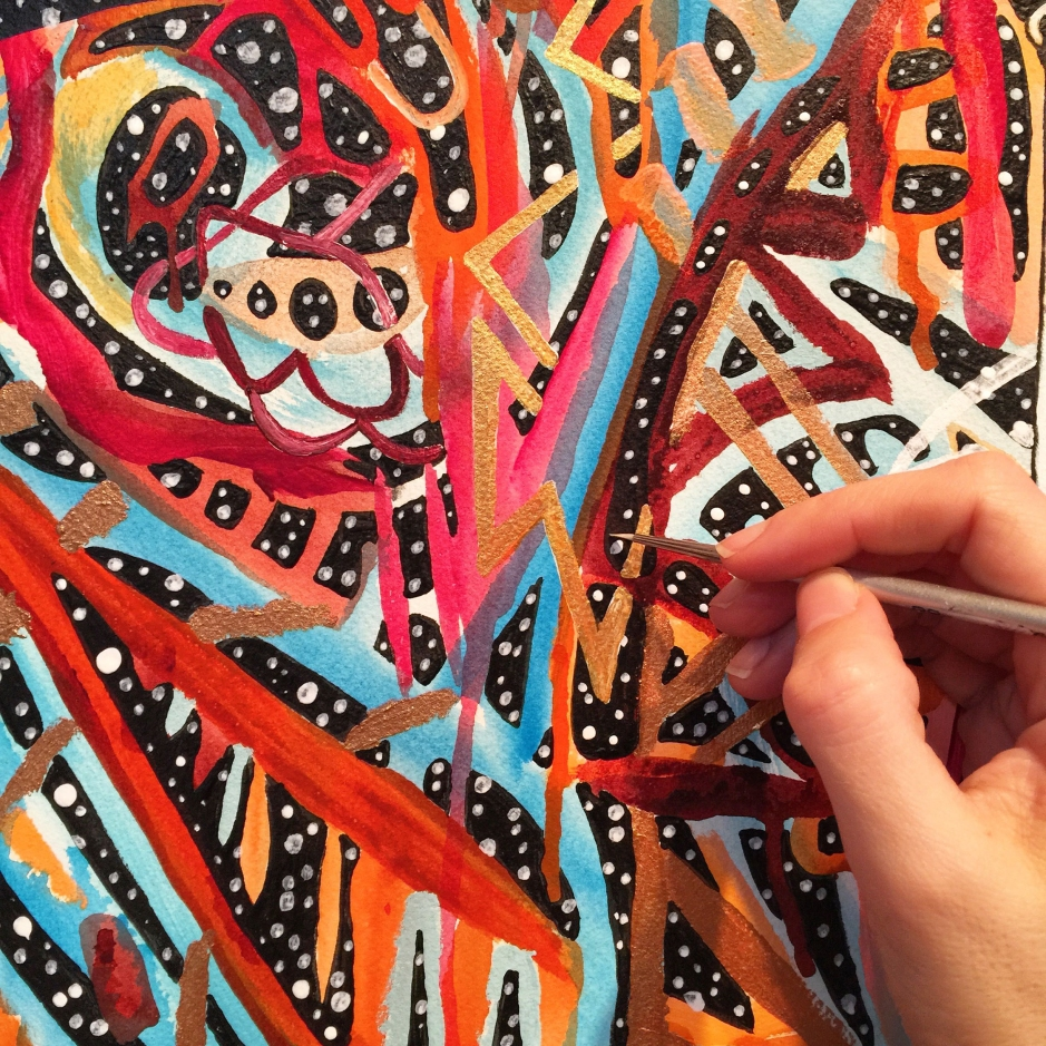 alex grey inspired, android jones inspired, art inspired by the poetry of rumi, erik jones inspired, feminism in modern art, juxtapoz visionary art, lsd art, meghan oona clifford art, modern celtic knot work, modern celtic knotting, new contemporary art, pop surrealism art, spirituality and art, tara mcpherson inspired, thinkspace gallery art, visionary artist painting